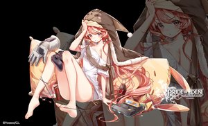 Rating: Safe Score: 85 Tags: barefoot clouble drink evante_(red:_pride_of_eden) logo long_hair red:_pride_of_eden twintails zoom_layer User: BattlequeenYume