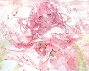 Rating: Safe Score: 53 Tags: anthropomorphism bubbles flowers japanese_clothes long_hair miyuki_(miyuki_05290) pink pink_eyes pink_hair sergestid_shrimp_in_tungkang underwater water xuan_ying yukata User: otaku_emmy