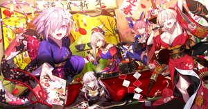 Rating: Safe Score: 144 Tags: animal_ears blonde_hair breasts cleavage drink fate/grand_order fate_(series) foxgirl group japanese_clothes kimono kiyohime_(fate/grand_order) long_hair mash_kyrielight miyamoto_musashi_(fate/grand_order) nero_claudius_(fate) pink_eyes pink_hair purple_eyes purple_hair shinooji short_hair tail tamamo_no_mae_(fate) thighhighs white_hair yellow_eyes User: RyuZU