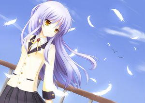 Rating: Safe Score: 51 Tags: angel_beats! long_hair skirt sky tachibana_kanade white_hair yellow_eyes User: Tensa