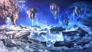 Rating: Safe Score: 126 Tags: 3d airship clouds original planet scenic space stars yoshimo_(yoshiki_qaws) User: RyuZU