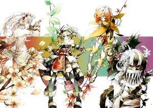 Rating: Safe Score: 97 Tags: anthropomorphism armor autumn chain flowers kaie_yuu katana original spring summer sword weapon winter User: FormX