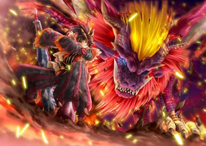 Rating: Safe Score: 34 Tags: fire horns monster_hunter muranako sword teostra weapon User: lost91colors