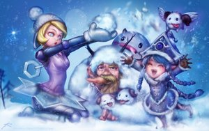 Rating: Safe Score: 54 Tags: blonde_hair blue_eyes blue_hair blush boots braids hat league_of_legends loli lulu olaf_(league_of_legends) orianna_reveck ptcrow robot short_hair signed snow snowman stars tiara watermark winter User: mattiasc02