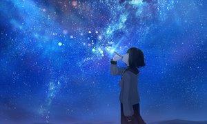 Rating: Safe Score: 50 Tags: bubbles mifuru night original school_uniform sky stars User: FormX