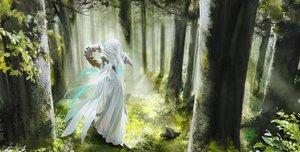 Rating: Safe Score: 39 Tags: all_male animal aqua_eyes asclepius_(fate/grand_order) au_(d_elite) bird cape fate/grand_order fate_(series) forest long_hair male tree white_hair User: otaku_emmy