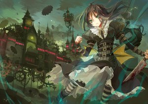 Rating: Safe Score: 117 Tags: alice_(wonderland) alice_in_wonderland ane_niku black_hair green_eyes User: opai