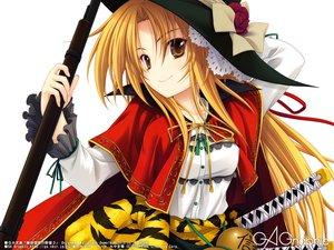 Rating: Safe Score: 123 Tags: blonde_hair gun hat long_hair miyama-zero oda_nobuna oda_nobuna_no_yabou sword weapon User: Wiresetc