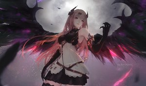 Rating: Safe Score: 139 Tags: aoi_ogata blonde_hair dark_angel_olivia dress elbow_gloves gloves granblue_fantasy horns long_hair red_eyes tattoo thighhighs watermark wings User: RyuZU