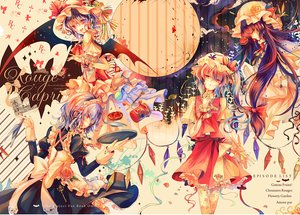Rating: Safe Score: 76 Tags: apron blonde_hair blue_hair bow fang flandre_scarlet flowers food fruit hat izayoi_sakuya kirero long_hair moon patchouli_knowledge ponytail purple_hair red_eyes remilia_scarlet ribbons rose short_hair strawberry touhou wings yellow_eyes User: ガラス
