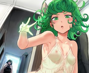 Rating: Questionable Score: 314 Tags: 2girls black_hair blush breast_hold breasts cape close cropped fubuki_(onepunch_man) green_eyes green_hair hewsack nipples onepunch_man see_through short_hair tatsumaki_(onepunch_man) User: BattlequeenYume