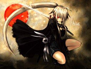 Rating: Safe Score: 202 Tags: blonde_hair hinomaru_(kotoba) katana kotoba_noriaki long_hair original red_eyes sword weapon User: acucar11