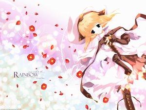 Rating: Safe Score: 0 Tags: black_eyes blonde_hair boots dress flowers hat kisaragi_mizu petals pointed_ears ribbons scan watermark User: Oyashiro-sama