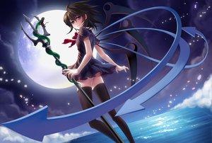 Rating: Safe Score: 56 Tags: dress houjuu_nue moon night pass skirt spear thighhighs touhou water weapon wings zettai_ryouiki User: HawthorneKitty