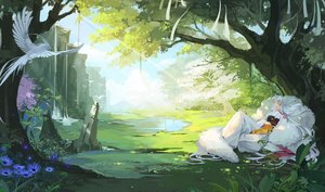 Rating: Safe Score: 51 Tags: ana_bi animal bird clouds flowers forest inuyasha japanese_clothes long_hair pointed_ears sesshomaru sky sleeping tree water waterfall white_hair User: otaku_emmy