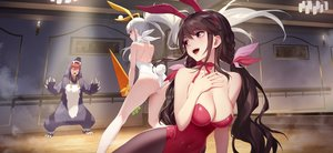 Rating: Safe Score: 108 Tags: animal_ears ass braids brown_hair bunny_ears bunnygirl daye_bie_qia_lian long_hair male pantyhose pink_eyes ponytail red_eyes romantic_saga_of_beauty_&_devil tail twintails white_hair User: BattlequeenYume