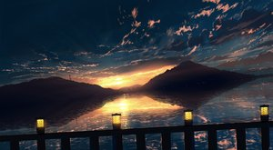Rating: Safe Score: 77 Tags: clouds landscape nobody original scenic signed sky skyrick9413 sunset water User: mattiasc02