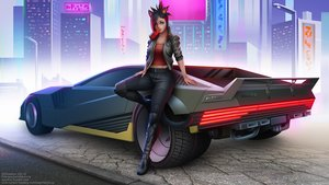 Rating: Safe Score: 15 Tags: animal_ears black_hair braids building car catgirl city crossover cyberpunk_2077 final_fantasy final_fantasy_xiv green_eyes maxim_domikov miqo'te navel short_hair tail watermark User: SciFi