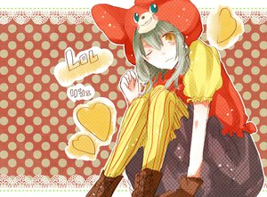 Rating: Safe Score: 14 Tags: hatsune_miku lots_of_laugh_(vocaloid) uni_(kokoromikun) vocaloid User: MissBMoon