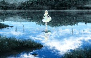 Rating: Safe Score: 123 Tags: dress grass kazami_ehoh original reflection scenic water User: Flandre93