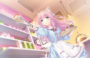Rating: Safe Score: 55 Tags: animal_ears apron blush cake catgirl food fraise_(sayori) game_cg green_eyes long_hair nekopara neko_works pink_hair sayori tail waitress User: BattlequeenYume