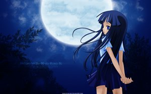 Rating: Safe Score: 100 Tags: furude_rika higurashi_no_naku_koro_ni moon night vector User: 秀悟