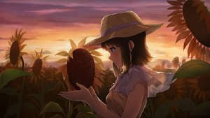 Rating: Safe Score: 31 Tags: brown_hair clouds dark flowers hat narumi_nanami original scenic short_hair sky sunflower sunset User: RyuZU