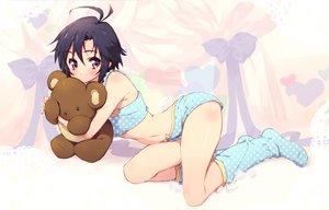 Rating: Safe Score: 148 Tags: idolmaster kikuchi_makoto pandaki_(aki) teddy_bear underwater water User: FormX