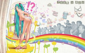 Rating: Safe Score: 286 Tags: ass barefoot bikini hatsune_miku rainbow swimsuit twintails umbrella vocaloid wokada User: HawthorneKitty