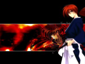 Rating: Safe Score: 1 Tags: all_male himura_kenshin japanese_clothes male rurouni_kenshin scar sword weapon User: Oyashiro-sama