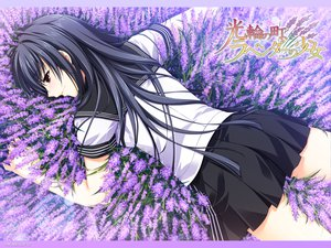 Rating: Safe Score: 72 Tags: alpha black_hair brown_eyes crying flowers kourin_no_machi_lavender_no_shoujo long_hair sakuragi_hikaru seifuku tears watermark User: Katsumi