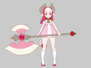 Rating: Safe Score: 16 Tags: animal_ears bell collar cowgirl dress horns kneehighs loli long_hair nagisa_kurousagi original pink_hair polychromatic red_eyes tail weapon User: otaku_emmy