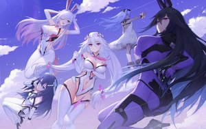 Rating: Safe Score: 142 Tags: animal_ears ass bodysuit breasts bunny_ears cleavage emile_(xipuria) group long_hair oo92248226 reina_(xipuria) short_hair sky_diver_xipuria tagme_(character) User: Fepple