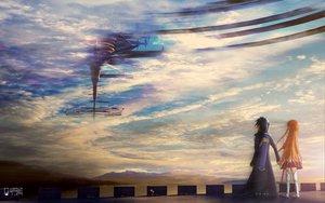 Rating: Safe Score: 125 Tags: clouds kirigaya_kazuto landscape scenic sky sword sword_art_online weapon yuuki_asuna User: C4R10Z123GT