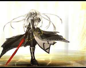 Rating: Safe Score: 116 Tags: long_hair original shiroganeusagi sword thighhighs weapon User: Wiresetc