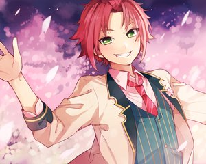 Rating: Safe Score: 34 Tags: all_male ensemble_stars! green_eyes isara_mao male red_hair short_hair suit tamak0 tie User: otaku_emmy