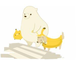 Rating: Safe Score: 7 Tags: animal bear bird chai_(artist) dog food fruit original polychromatic signed white User: otaku_emmy