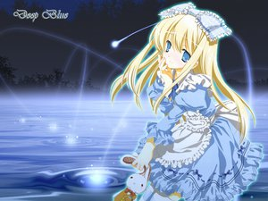 Rating: Safe Score: 19 Tags: alice_(wonderland) alice_in_wonderland blonde_hair blue blue_eyes dress lolita_fashion miyashita_miki ribbons water User: rodri1711