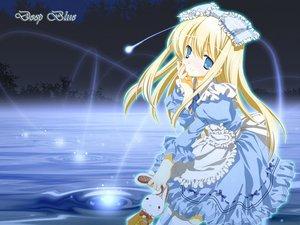 Rating: Safe Score: 28 Tags: alice_(wonderland) alice_in_wonderland blonde_hair blue blue_eyes dress lolita_fashion miyashita_miki ribbons water User: rodri1711