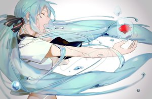 Rating: Safe Score: 108 Tags: animal bottle_miku fish hatsune_miku par. tears vocaloid water User: FormX