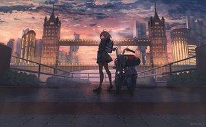 Rating: Safe Score: 55 Tags: brown_hair building city clouds hoodie motorcycle original pantyhose scenic skirt sky sunset watermark yu_ni_t User: BattlequeenYume