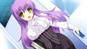 Rating: Safe Score: 46 Tags: blades_heart game_cg green_eyes long_hair purple_hair rikudou_kirie shimesaba_kohada User: Maboroshi