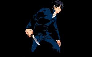 Rating: Safe Score: 6 Tags: black knife shingetsutan_tsukihime tohno_shiki User: 秀悟