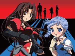 Rating: Safe Score: 18 Tags: eclair gun kadonosono_megumi kiddy_grade long_hair lumiere silhouette weapon User: Oyashiro-sama
