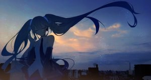 Rating: Safe Score: 70 Tags: hatsune_miku long_hair night tagme_(artist) twintails vocaloid User: luckyluna