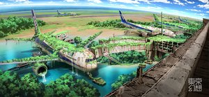 Rating: Safe Score: 235 Tags: aircraft building car landscape nobody original ruins scenic sky tokyogenso tree water User: w7382001