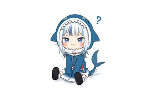 Rating: Safe Score: 41 Tags: amashiro_natsuki blue_eyes boots cat_smile chibi gawr_gura hololive hoodie short_hair tail white white_hair User: otaku_emmy