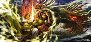 Rating: Safe Score: 54 Tags: dragon hong_meiling siruva touhou User: FormX