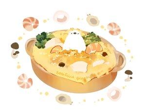 Rating: Safe Score: 28 Tags: animal bear chai_(artist) food nobody original signed white User: otaku_emmy