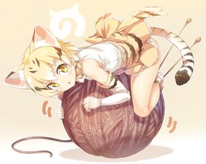Rating: Safe Score: 137 Tags: animal_ears anthropomorphism ball catgirl ichi_makoto kemono_friends sand_cat_(kemono_friends) tail User: RyuZU